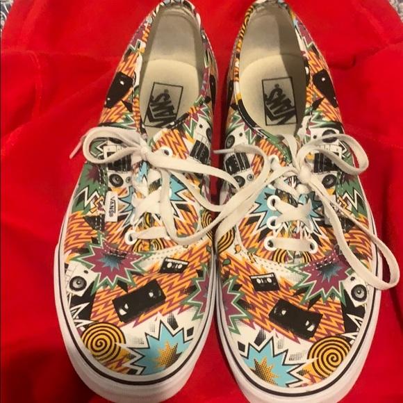 Vans Shoes | Pop Art Vans | Poshmark